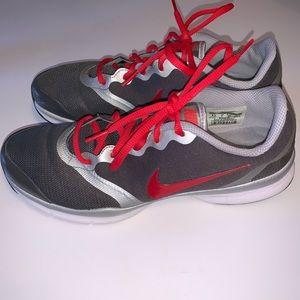 Nike Sneakers, Gray & Orange